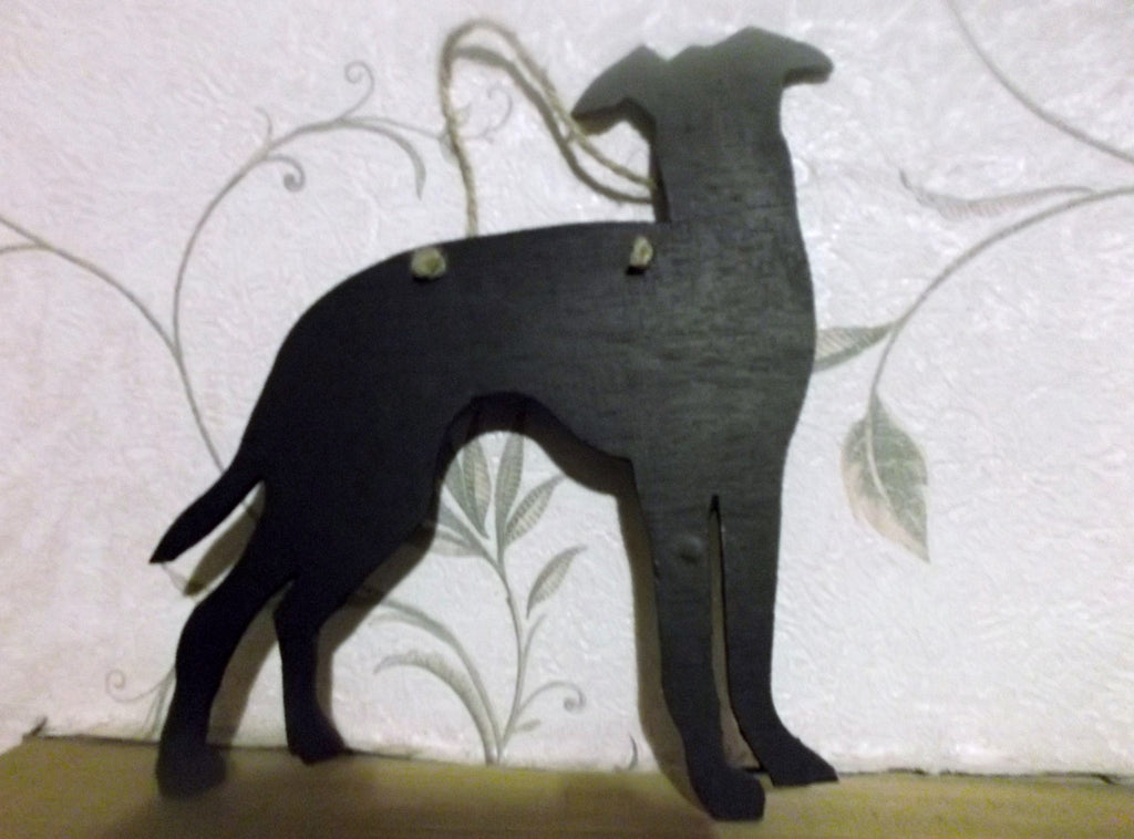 Greyhound Dog (B) Shaped Black Chalkboard Christmas Birthday gift present pet supplies Whippet - Tilly Bees