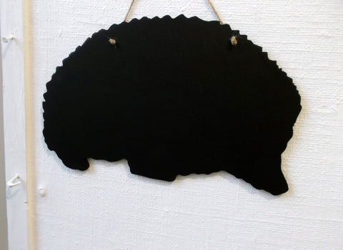 HEDGEHOG shaped chalk board blackboard wildlife garden kitchen memo message sign