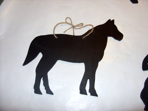 Pony Horse Shaped Chalk Board pet supplies pony equestrain tack room stable door signs