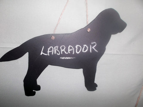 Labrador Dog Shaped Black Chalkboard Christmas Birthday gift present pet supplies