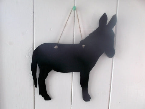 DONKEY shape chalk board Farm animal & pet handmade blackboard any shape