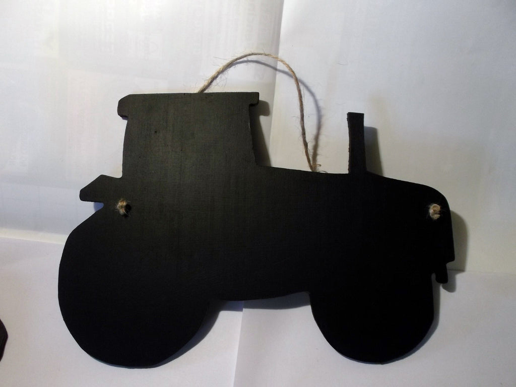 Tractor shaped chalk board blackboard farm farming unique shaped sign or notice board - Tilly Bees