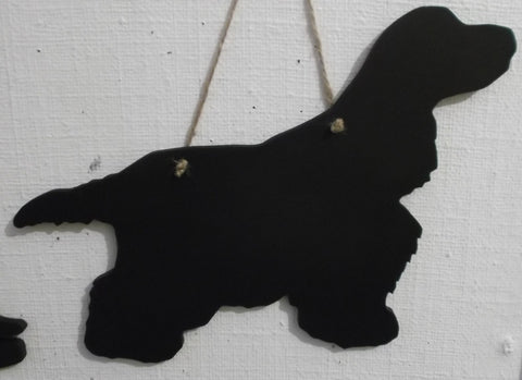 Cocker Spaniel NEW DESIGN of a Show Cocker Spaniel dog Shaped Black Chalkboard