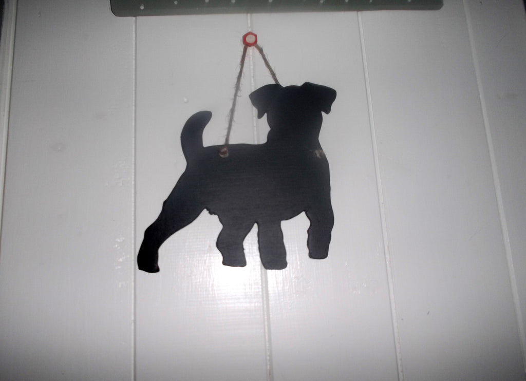 Terrier puppy Dog Shaped Black Chalkboard Christmas Birthday gift present pet supplies - Tilly Bees