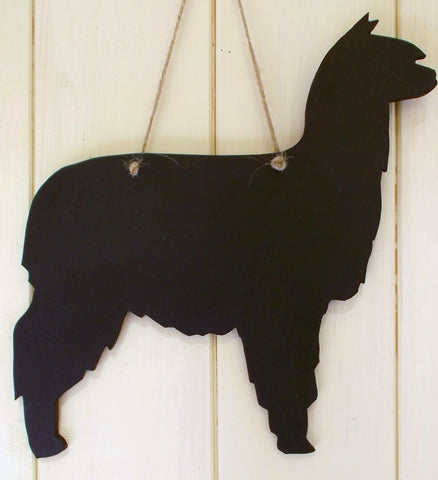 SURI Alpaca shaped chalk board wool sign notice board shed sign