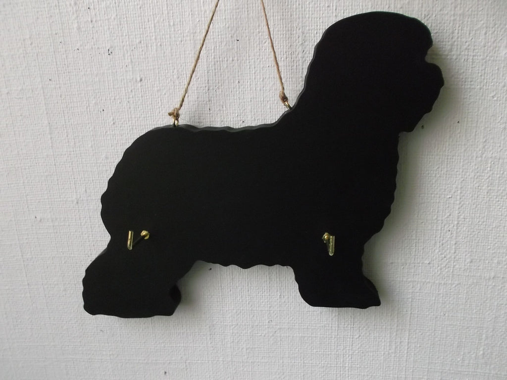 OLD ENGLISH SHEEPDOG Dog shaped Key / Lead holder with chalkboard surface