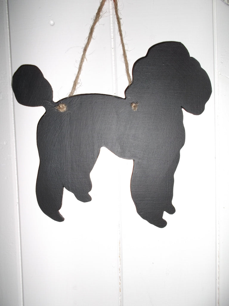 Poodle Toy Poodle Dog Shaped Black Chalkboard Christmas Birthday gift present pet supplies - Tilly Bees