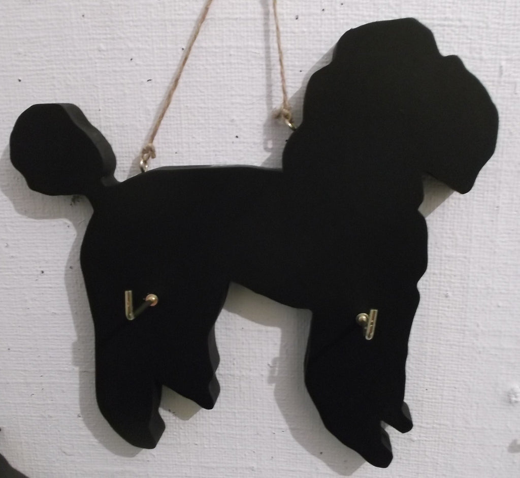 POODLE DOG shaped Key / Lead holder chalkboard surface Christmas Gift Pet Supplies - Tilly Bees