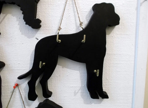Great Dane Dog shaped Key / Lead holder with chalkboard surface dog grooming parlour salon