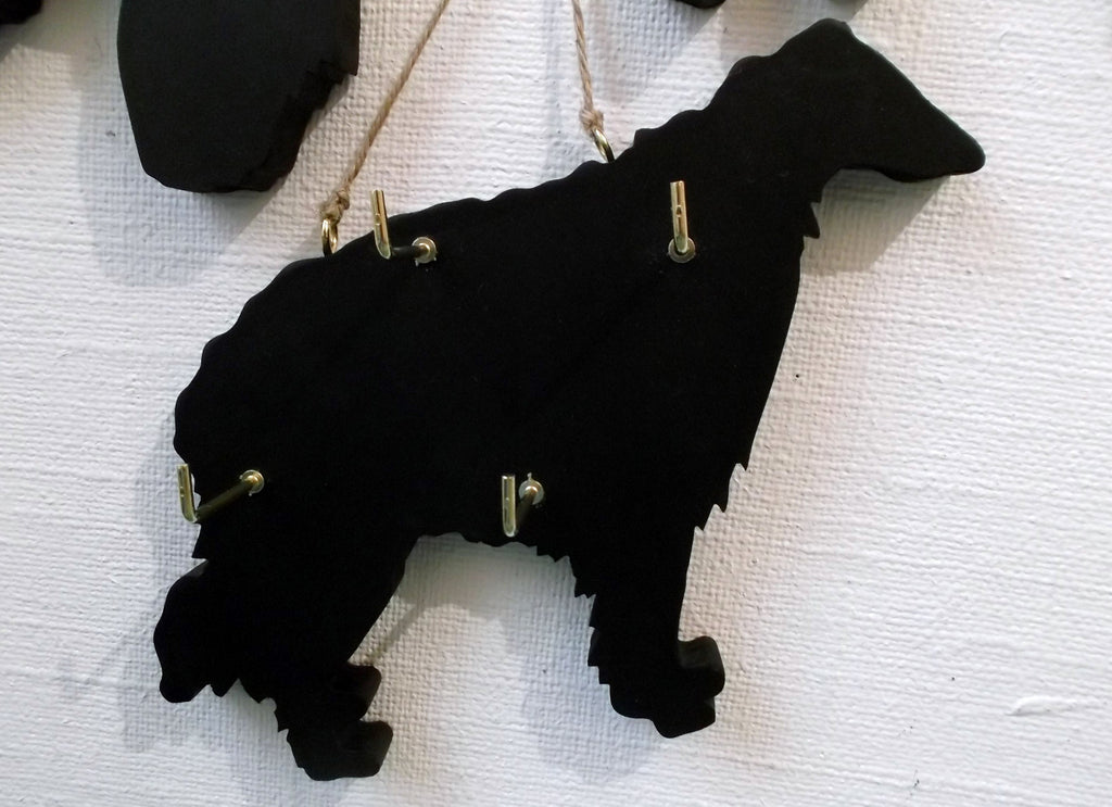 BORZOI DOG shaped Key / Lead holder with chalkboard surface Pet Supplies puppy - Tilly Bees