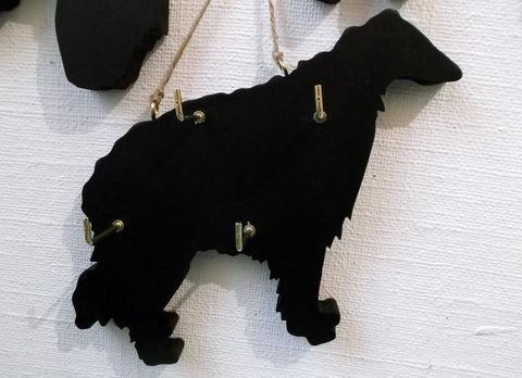 BORZOI DOG shaped Key / Lead holder with chalkboard surface Pet Supplies puppy