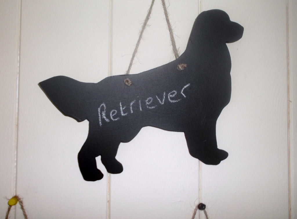 Retriever Dog Shaped Black Chalkboard Christmas Birthday gift present pet supplies - Tilly Bees