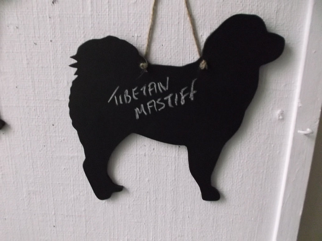 Tibetan Mastiff Terrier Dog Shaped Black Chalkboard Christmas Birthday gift present pet supplies - Tilly Bees