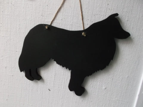 Sheltie Dog Shaped Black Chalkboard Christmas Birthday gift present pet supplies 9mm mr MDF pet supplies