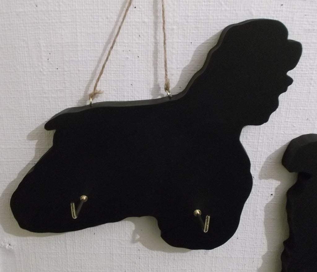 COCKER SPANIEL show DOG shaped Key Lead holder with chalkboard surface  Pet Supplies - Tilly Bees