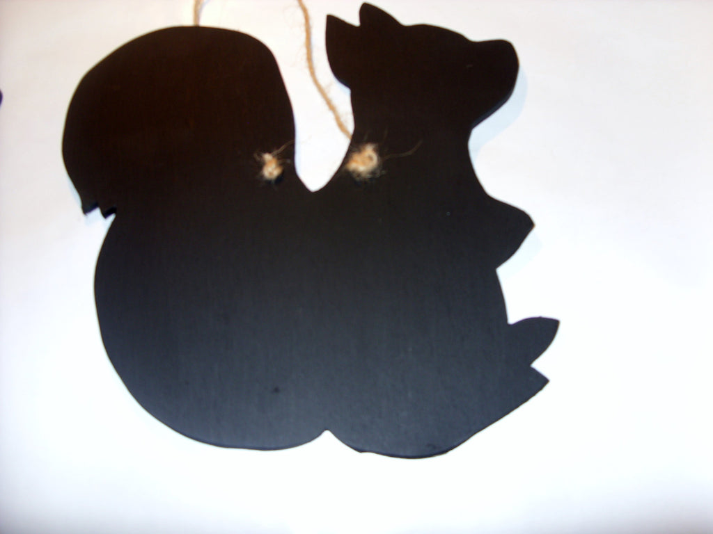 SQUIRREL shaped chalk board blackboard wildlife garden kitchen memo message sign