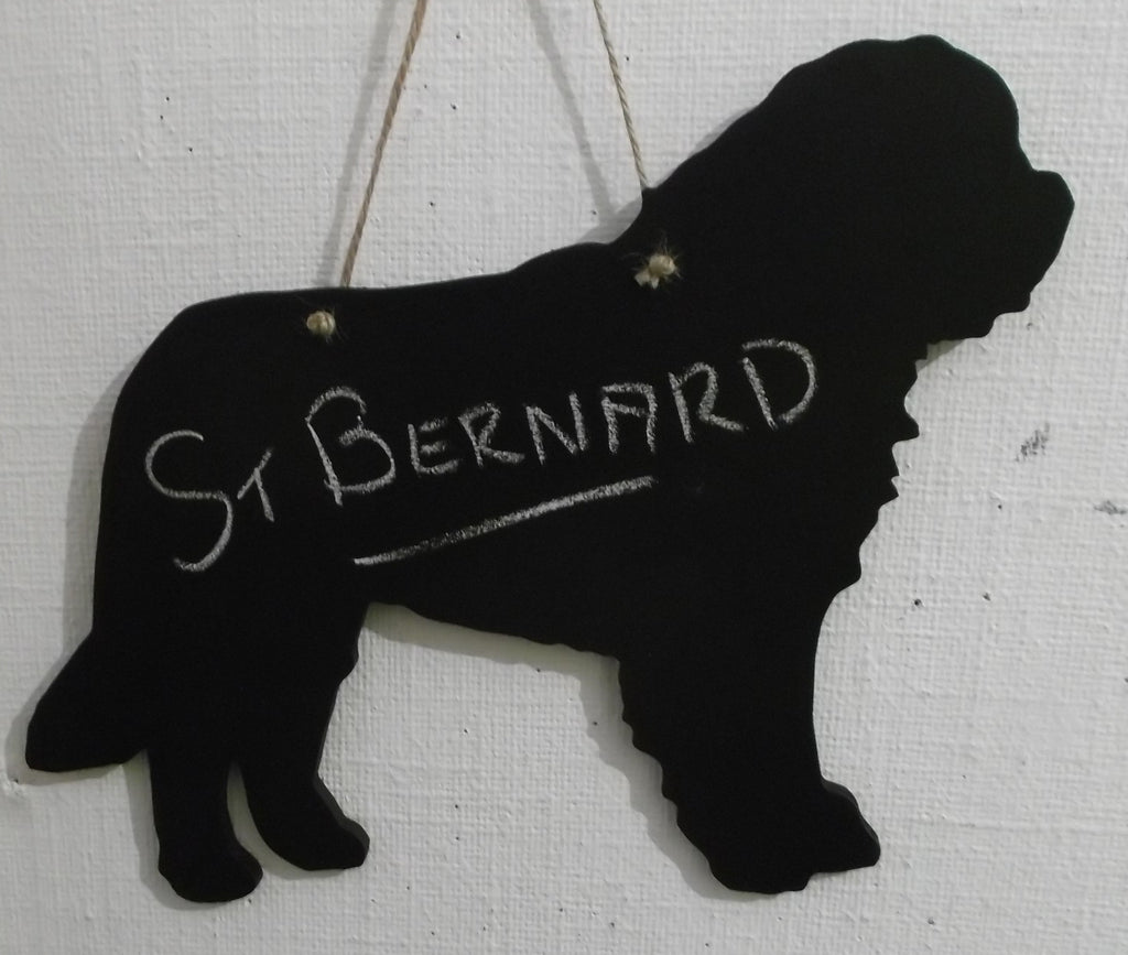 Saint Bernard Dog Shaped Chalk board Blackboard memo message board can be made as a lead holder too - Tilly Bees