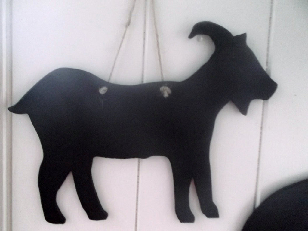 GOAT chalkboard Farm animal pet handmade blackboards chalkboard memo message sign menu pet supplies - Tilly Bees