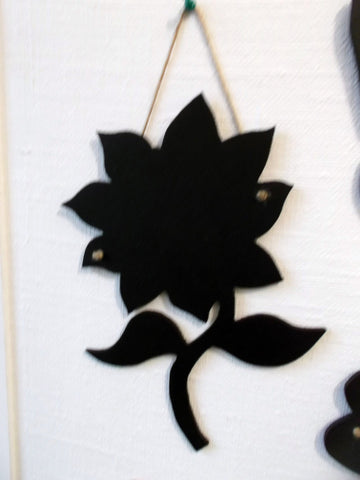 SUNFLOWER shaped chalk board blackboard cafe tearooms restaurant teashop kitchen memo message sign