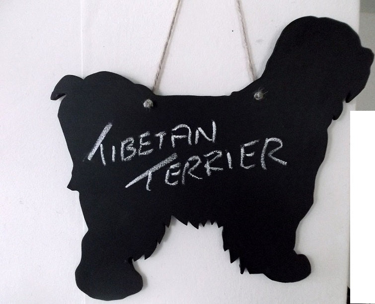 Tibetan Terrier dog Shaped Black Chalkboard Christmas Birthday gift present pet supplies - Tilly Bees