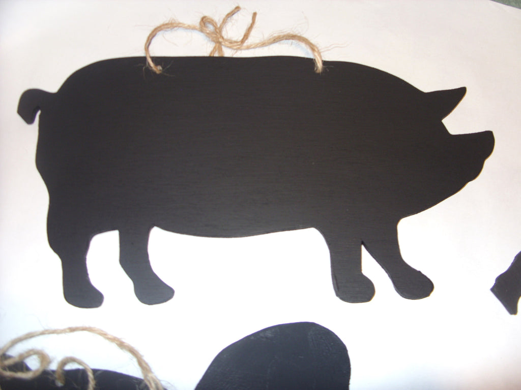 PIG shaped chalk boards Farm animal & pet handmade blackboards