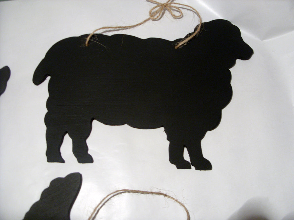 SHEEP shaped animal chalk board Farm animal & pet Cow Bull Calf Pig Sheep Goat Donkey Alpaca Tractor handmade blackboards any shape can be made to order - Tilly Bees