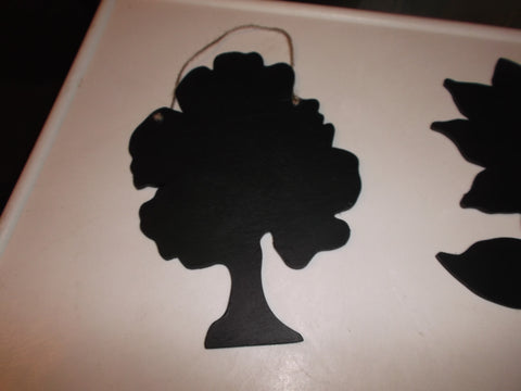 Tree shaped chalk board blackboard cafe tearooms restaurant teashop kitchen memo message sign