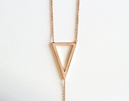 Its Goin Down Lariat Necklace, Rose Gold