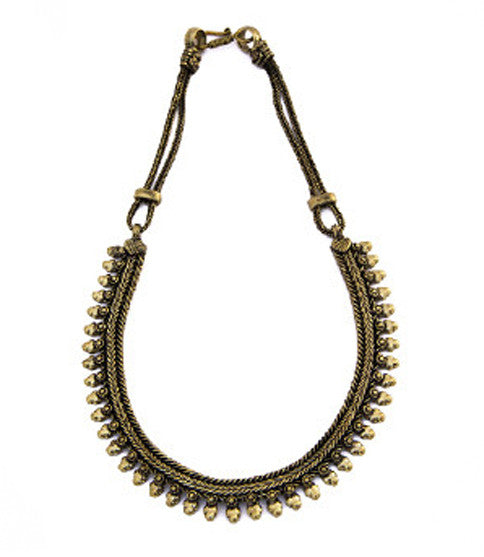 Arshia Bib Necklace, Brass