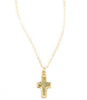 Vanessa Cross Necklace, Pyrite