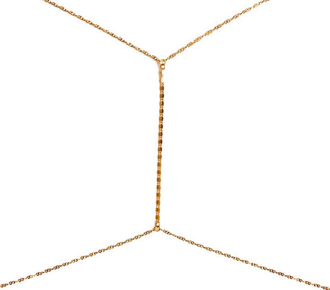 Gold Hot Bod Body Chain, Onyx
