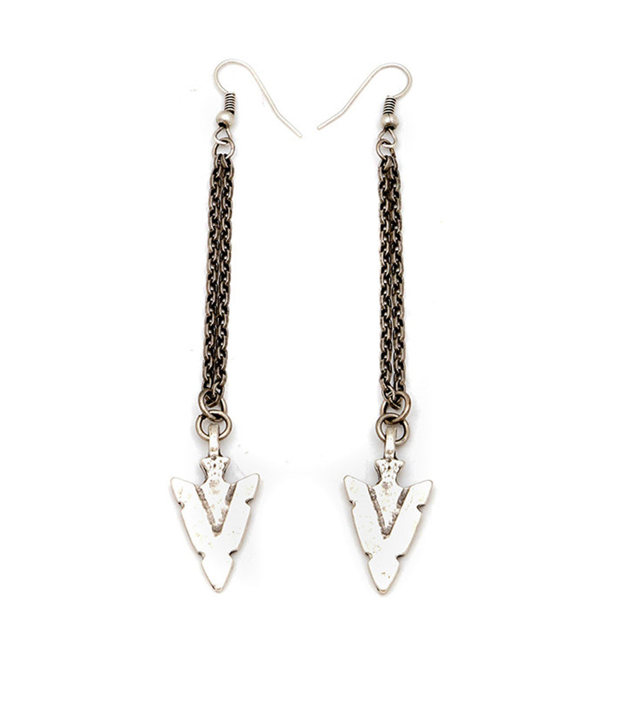 Arrowhead Drop Earrings