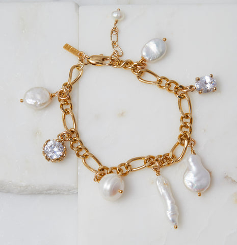 Baby Boho Freshwater Pearl Necklace, Gold