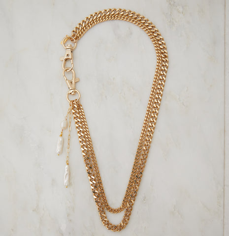 Amalia Vintage Pave Bar Necklace