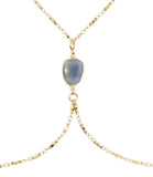 Bodycon Body Chain, Blue Chalcedony
