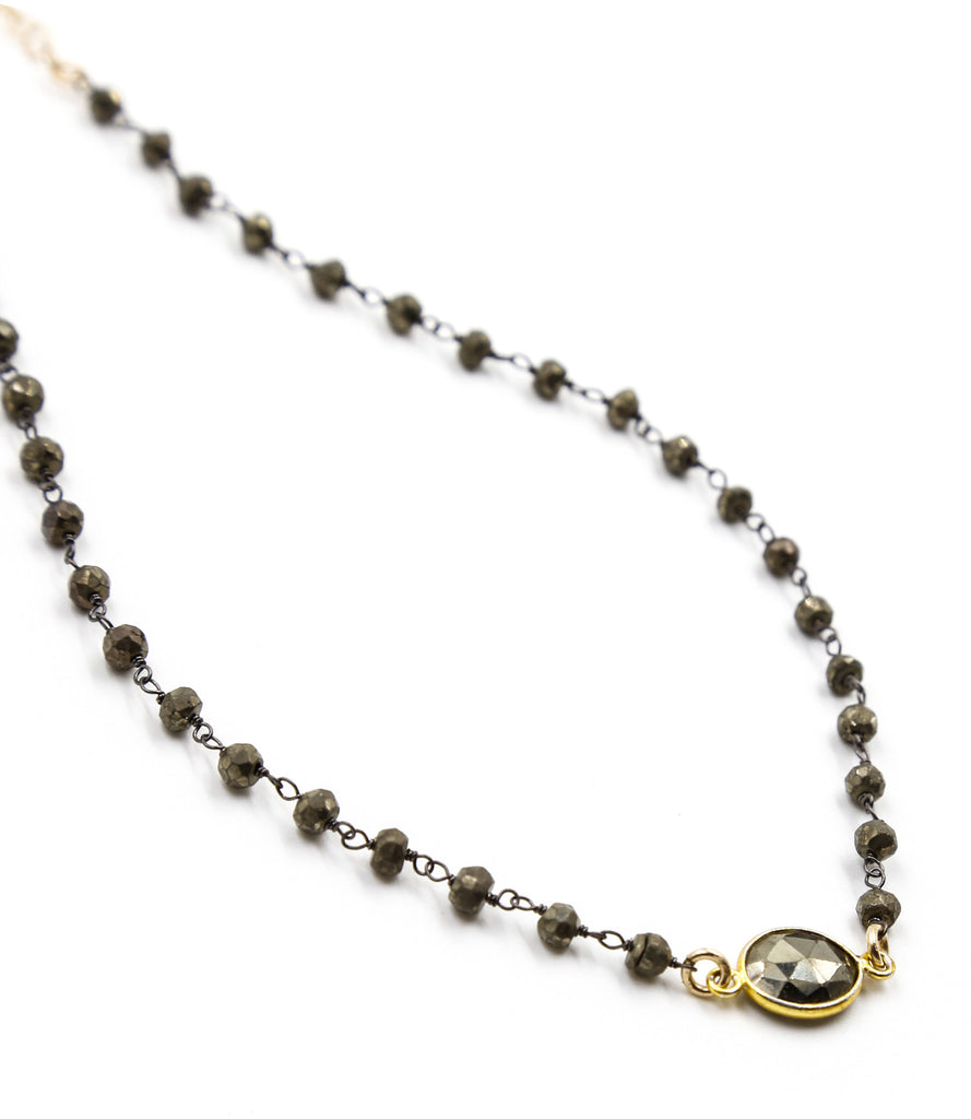 Bianca Pyrite Buried Treasure Choker