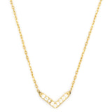 Baby V Necklace, Gold