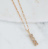 Boss Cz Necklace, Gold