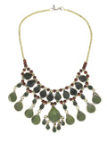 Cassidy Bib Necklace, Oliveine