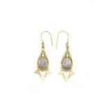 Dubai Mini Earrings, Rainbow Moonstone