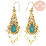 Dubai Earrings, Turquoise
