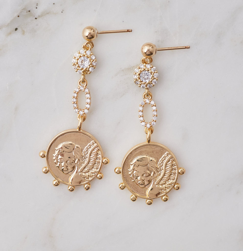 Angelic Angel Charm Earrings