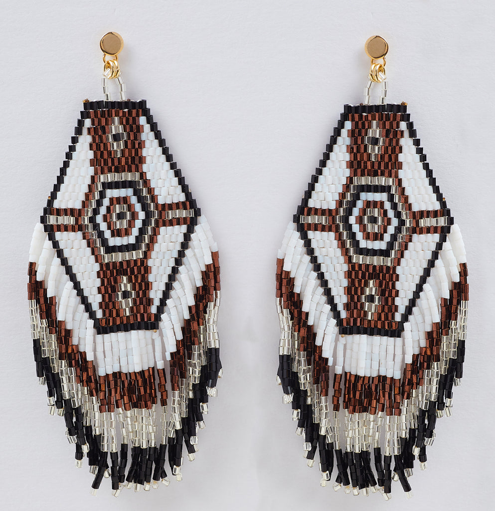Muy Bonita Fringe Earring in White