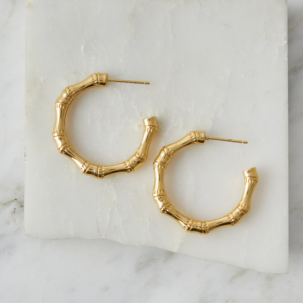 Lucky Bamboo Hoops