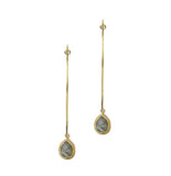 Chrissie Hoops, Gold & Labradorite