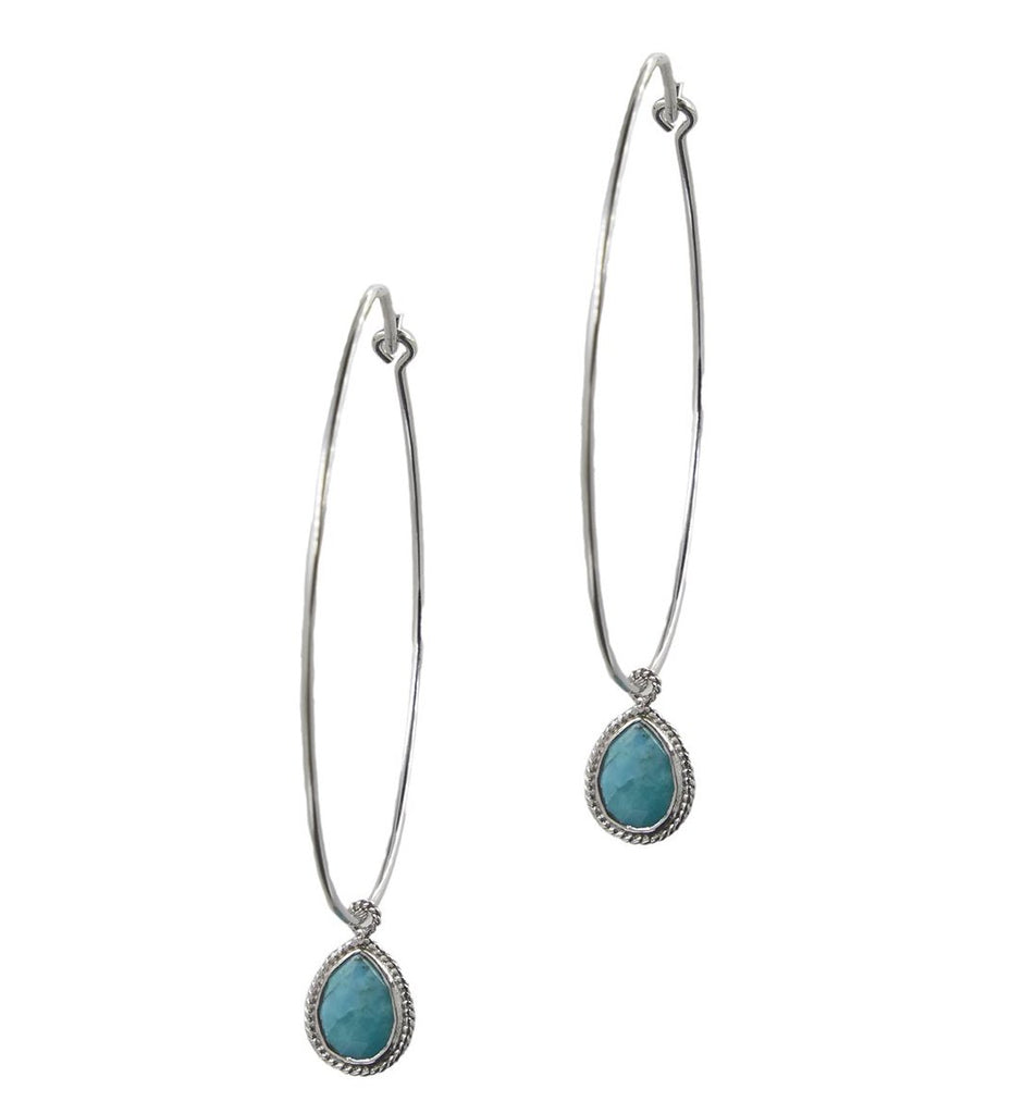 Chrissie Hoops, Silver & Turquoise