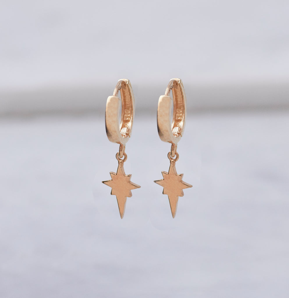 North Star Huggy Earring