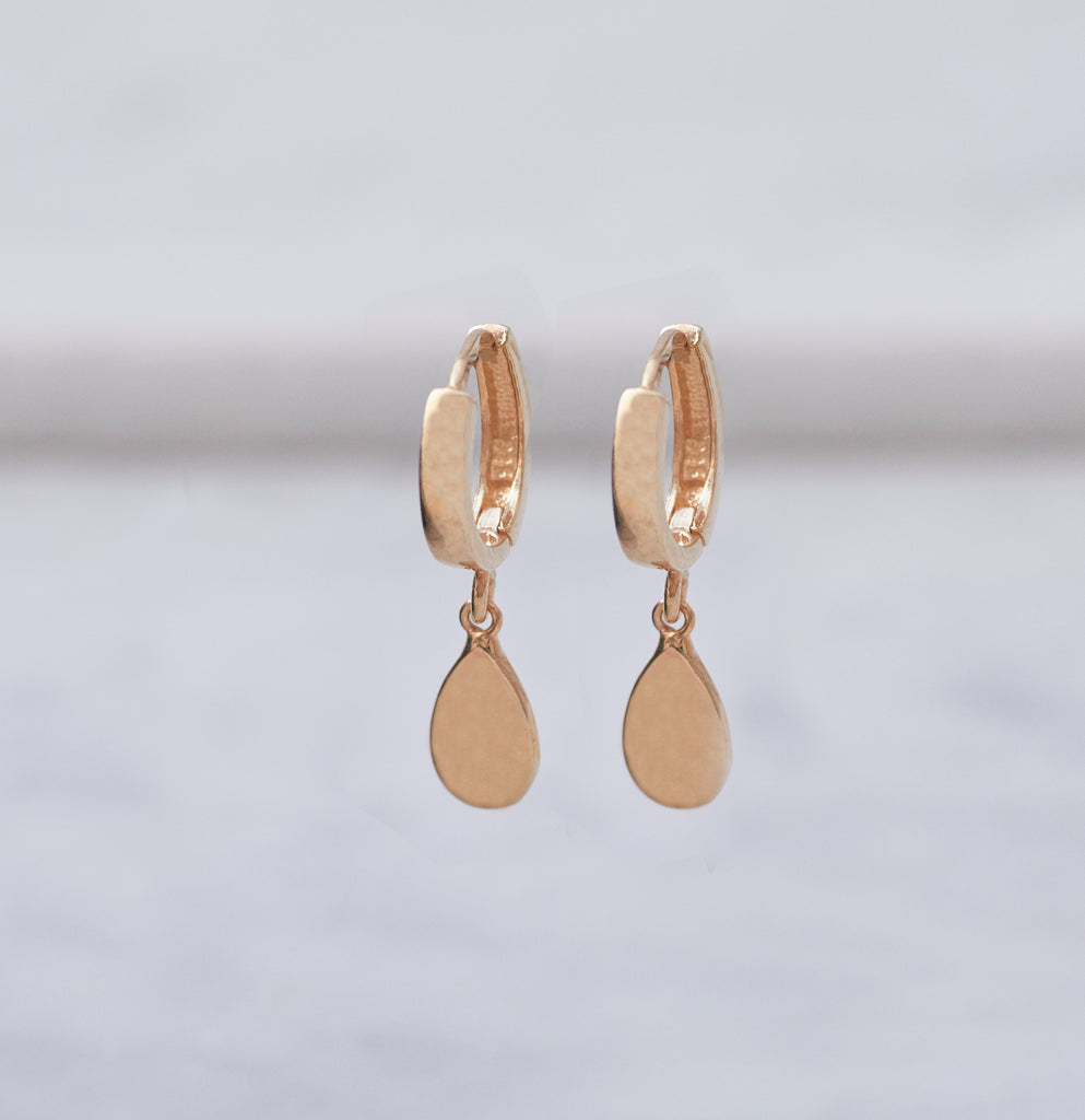 Tear Drop Huggy Earring
