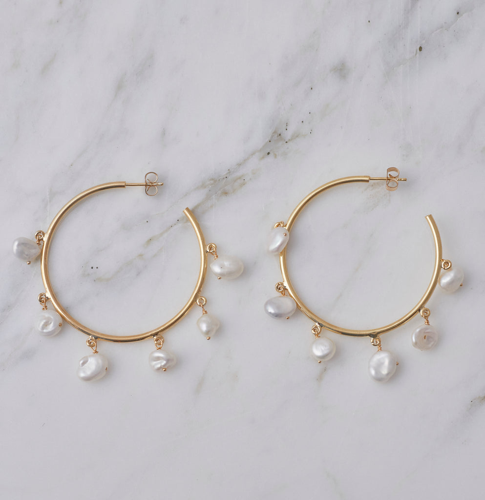 Milky Way Pearl Hoop