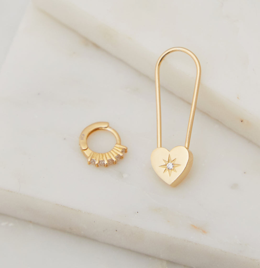 Heart Emotion Earring Set